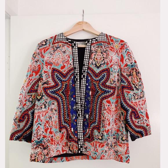Zara Jackets & Blazers - Zara Multicolor Embroidered Jacket with Beading